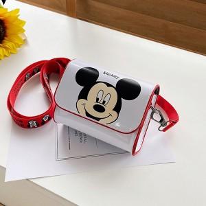 Disney Mickey Mouse Donald Duck Cute Cartoon Kids Shoulder Bag - White
