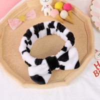 Women Soft Sweet Solid Color Headband - Black And White