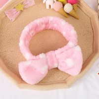 Women Soft Sweet Solid Color Hair band - Pink
