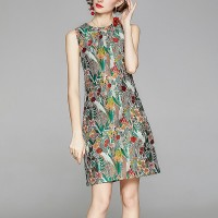 Printed Women Fashion Midi Dress - Floral