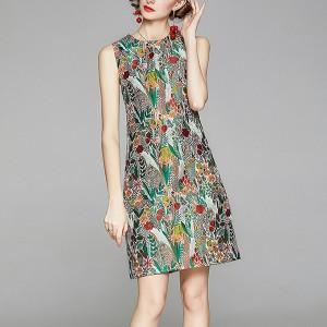 Printed Women Fashion Midi Dress - Floral