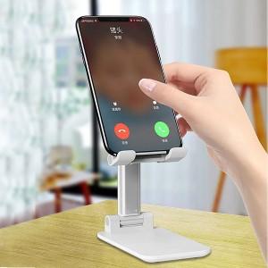 Adjustable Folding Desktop Phone Tablet Ipad Stand Holder - White