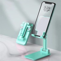 Adjustable Folding Desktop Phone Tablet Ipad Stand Holder - Sea Green