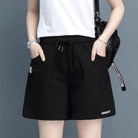 Waist Elastic Loose Wear Women Fashion Shorts Pant - Black