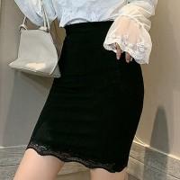 Bodyfitted Sexy Wear Women Fashion Lace Skirt - Black