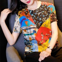 Printed Graphical Multicolor Women Fashion Top