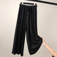 Elastic Waist Solid Color Formal Trouser - Black