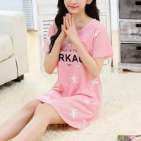 Short Sleeved Stars Printed Mini T-Shirt Dress - Pink