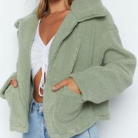 Zipper Closure Shirt Collar Full Sleeves Jacket - Green