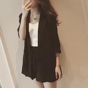 Modern Formal Suit Neck Coat With Skirt Bottom - Black