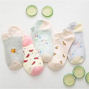 Five Pieces Multicolor Casual Wear Socks Set