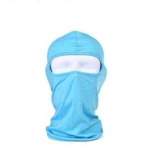 Face Covered Solid Color Unisex Face Mask - Blue