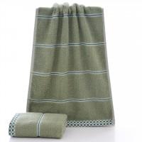 Mini Size Striped Design Bath Towel One Piece - Green