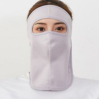 Face Covered Canvas Anti Bacterial Sun Protective Face Mask - Purple