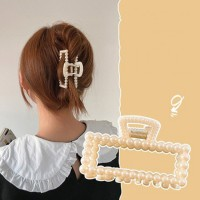 Girl Fashion Knitted Hair Clip - Beige
