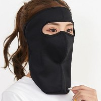 Face Covered Canvas Anti Bacterial Sun Protective Face Mask - Black