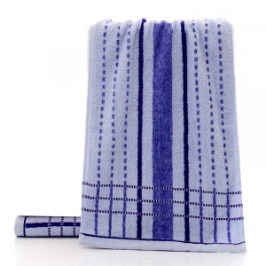 Soft Absorbent Cotton Face Mini Towel One Piece - Blue