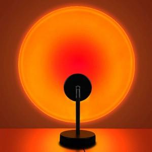 Room Decoration Studio Projection Usb Lamp Light - Sunset Red