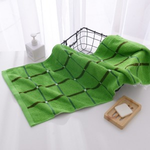 Mini Size Soft Cotton Hand Face Bath Towel - Green