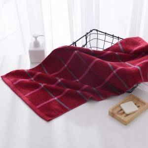 Mini Size Soft Cotton Hand Face Bath Towel - Wine Red