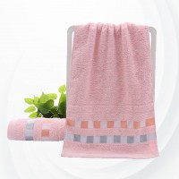 Soft Cotton Quick Dry Small Size Hand Bath Towel - Pink