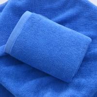 High Quality Quick Dry Plain Dyed Cotton Bath Mini Towel - Blue