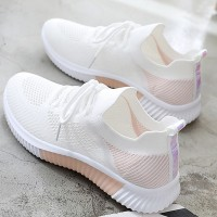 Breathable Light Weight Running Sports Wear Sneakers - White