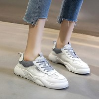 Soft Base Sports Wear Women Fashion Sneakers - White