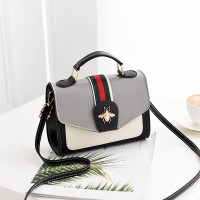 Synthetic Leather Designers Fashion Messenger Bags - Gray