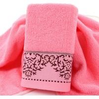High Softness Mini Size Cotton Bath towel - Pink