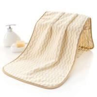Zigzag Pattern Coral Pile Large Size Bath Towel - Yellow