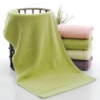 High Quality Soft Cotton Mini Size Hand Face Towel One Piece - Light Green