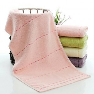 High Quality Soft Cotton Mini Size Hand Face Towel One Piece - Light Pink