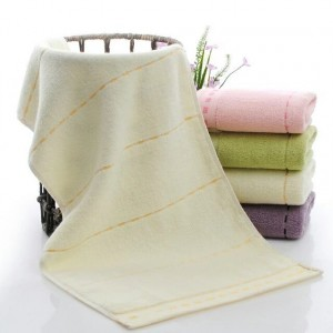 High Quality Soft Cotton Mini Size Hand Face Towel One Piece - Light Yellow