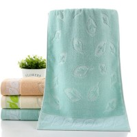 Leaf Pattern soft Cotton Mini Size Hand Face Towel One Piece - Sea Green