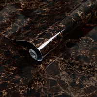 Marble Design High Temperature Resistant Oil Proof Waterproof For Home Kitchen Table Decoration - Coffee Black