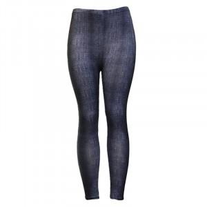 Denim Style Elastic Waist Comfy Wear Trousers - Black