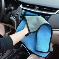 High Density Coral Velvet Double Sided Car Wash Towel One Piece - Blue