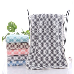 New Coral Velvet Soft Hair Face Towel One Piece - Gray