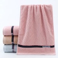 Cotton Terry Embroidered Mini Size Face Towel One Piece - Light Pink