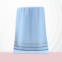 Colorful Soft Cotton Strip Pattern Mini Size Face Towel - Blue