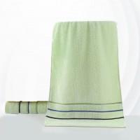Colorful Soft Cotton Strip Pattern Mini Size Face Towel - Green