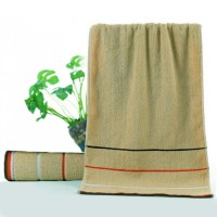 Colorful Soft Cotton Strip Pattern Mini Size Face Towel - Khaki