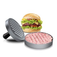 Round Shape Easy Hamburger And Patties Maker - Silver