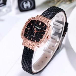 Classic Ladies Retro Watch - Black Gold