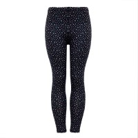 Floral Printed Stretchable Narrow Bottom Fitted Trousers - Black