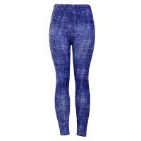 Denim Style Elastic Waist Comfy Wear Trousers - Dark Blue