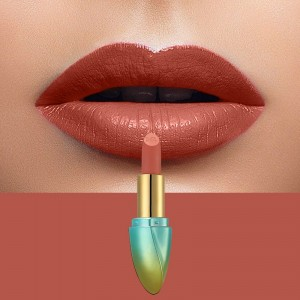 Solid Color Waterproof Long Lasting Hydrating Lipstick 05 - Orange Red