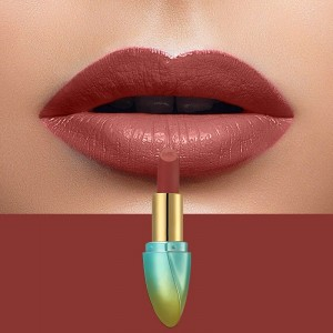 Solid Color Waterproof Long Lasting Hydrating Lipstick 07 - Dark Red