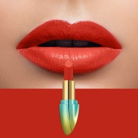 Solid Color Waterproof Long Lasting Hydrating Lipstick 08 - Red
